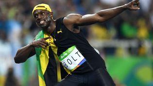 Usain Bolt remporte la finale du 100 m aux Jeux de Rio, le 14 août 2016. (DYLAN MARTINEZ / REUTERS)