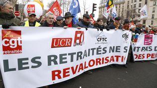 Une manifestation des retraités, le 31 janvier 2019 à Paris. (FRANCOIS GUILLOT / AFP)