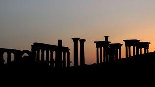 Palmyre : le tetrapylon et la grande colonnade (16 mai 2016)  (Manuel Cohen / AFP)