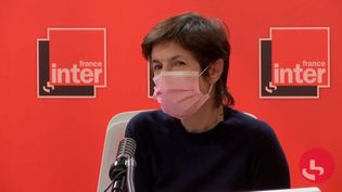 L'écrivaine Christine Angot invitée de France Inter le 21 janvier 2021 (RADIO FRANCE)
