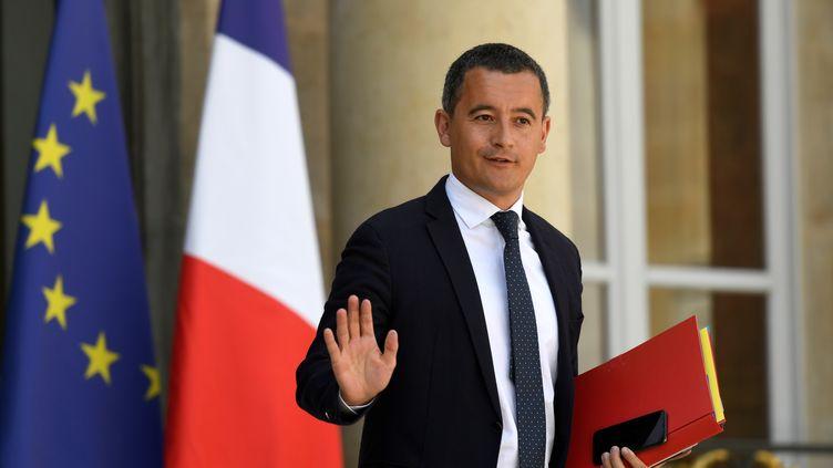 Le ministre de l'Action et des Comptes publics Gérald Darmanin quitte l'Elysée, à Paris, le 18 juillet 2018. (BERTRAND GUAY / AFP)
