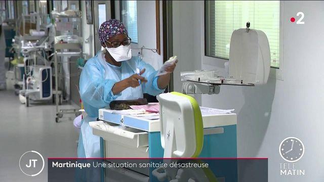 Martinique : les hôpitaux sont débordés face à l'afflux de patients Covid