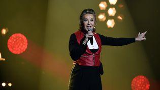 La chanteuse française Sheila, lors d'un concert le 19 janvier 2018 à Nancy (Meurthe-et-Moselle). (ALEXANDRE MARCHI / MAXPPP)