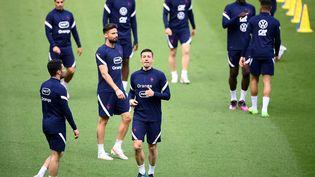 Les Bleus à l'entraînement austade de France, le 7 juin 2021 (FRANCK FIFE / AFP)