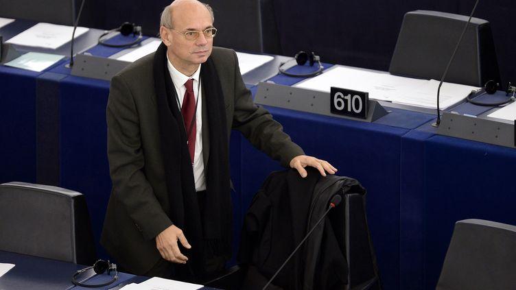 Le député européen FNJean Luc Schaffhauser, en novembre 2014 au Parlement de Strasbourg. (FREDERICK FLORIN / AFP)