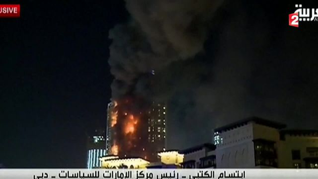 Incendie à Dubaï : une tour en flammes à quelques heures de la célébration de la nouvelle année