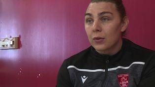Alexia Cérénys, seule joueuse transgenre d'Élite 1 en France. (CAPTURE ECRAN FRANCE 3)