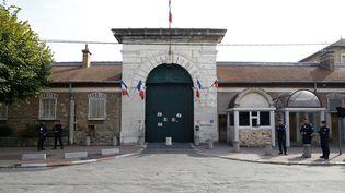 L'entrée de la prison de Fresnes (Val-de-Marne), le 20 septembre 2016. (PATRICK KOVARIK / AFP)