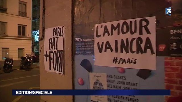 Attentats à Paris : recueillement sur les lieux des attaques
