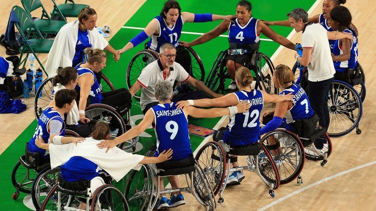 Les joueuses de l'équipe de France de basket fauteuil