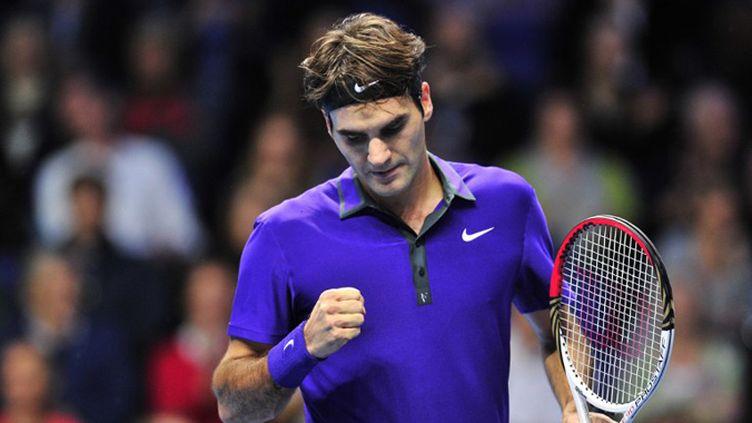 Roger Federer en action