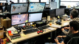 Atelier de conception chez Ubisoft, à Annecy (Haute-Savoie). (MAXPPP)