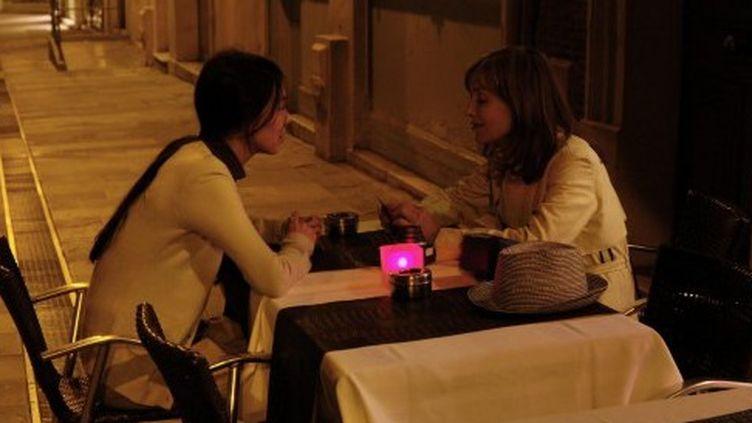 """""""La Caméra de Claire"""" : photo du film avec Isabelle Huppert et Kim Min-Hee"""