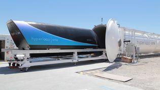 L'Hyperloop One XP-1 a effectué un deuxième essai concluant dans le désert du Nevada le 29 juillet 2017 (HYPERLOOP/COVER IMAGES/SIPA / SIPA USA)
