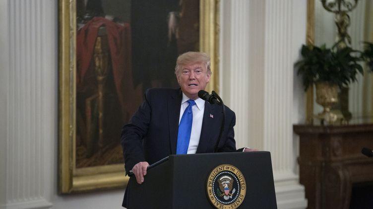 Le président américain, Donald Trump, à la Maison Blanche, le 21 novembre 2019. (STEFANI REYNOLDS / CONSOLIDATED NEWS PHOTOS / AFP)