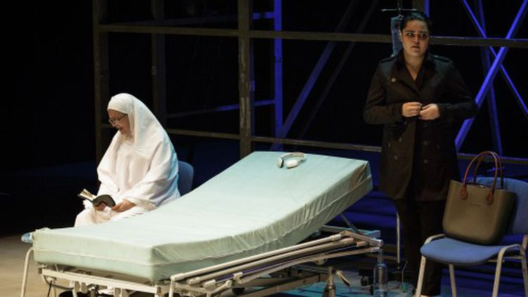 """""""Alors que j'attendais"""" mis en scène par Omar Abusaada au Festival d'Avignon.  (Christophe Raynaud de Lage)"""