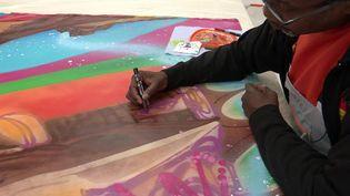 Le street artiste Kool Koor en résidence artistique au château Forbin à Marseille (France 3 PACA)
