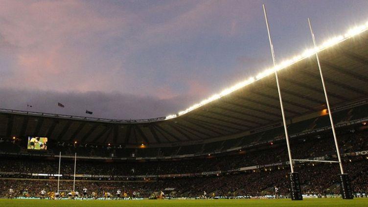 Le Stade de Twickenham à la tombée de la nuit