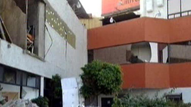 Immeubles endommagés par le séisme à Mexicali (4 avril 2010) (F2)
