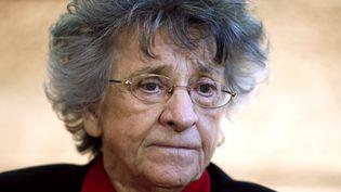 Antoinette Fouque, cofondatrice du Mouvement de libération des femmes (MLF), le 22 novembre 2013 à Paris. (PATRICK KOVARIK / AFP)