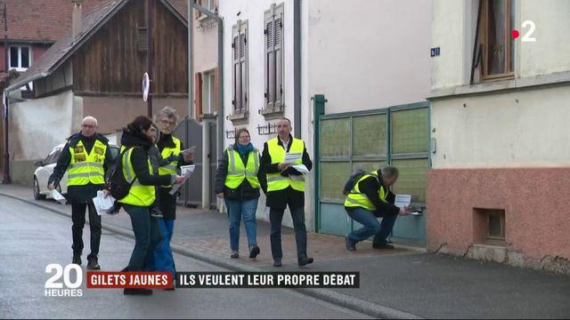"""""""Gilets jaunes"""" : ils veulent leur propre débat"""