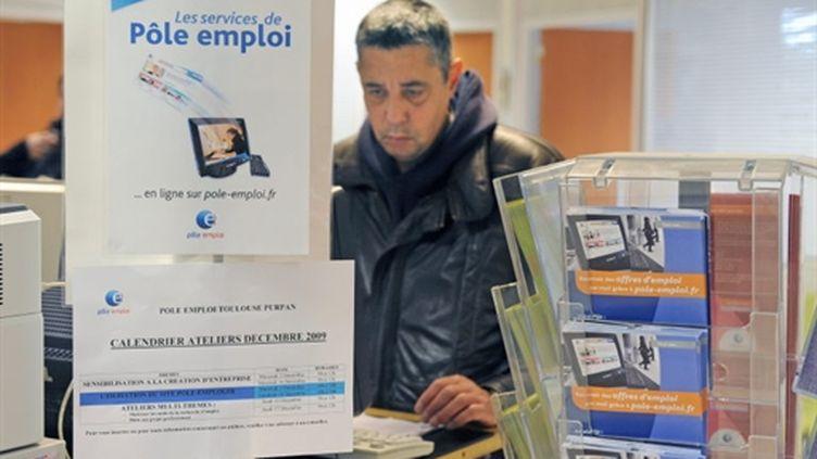Photo prise le 04 décembre 2009 dans une agence Pôle emploi à Toulouse. (AFP PHOTO / PASCAL PAVANI)