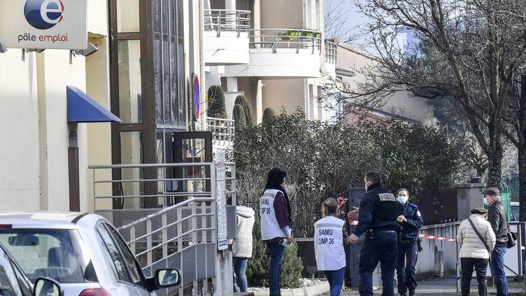 L'agence Pôle emploi de Valence, le 28 janvier 2021. (PHILIPPE DESMAZES / AFP)