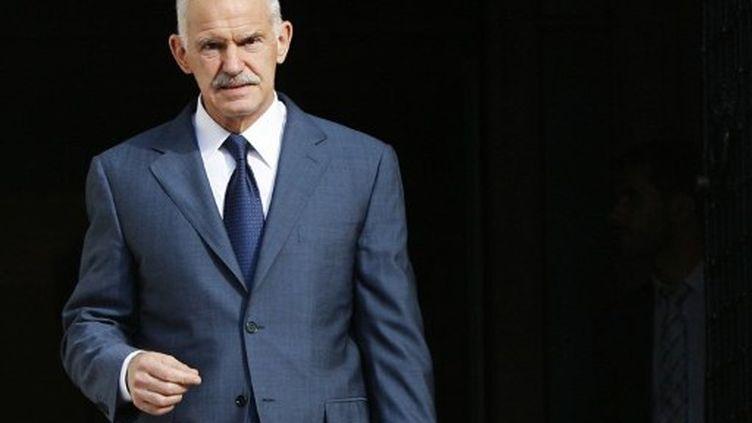 George Papandreou, premier ministre grec. 1er octobre 2011. (ANGELOS TZORTZINIS / AFP)