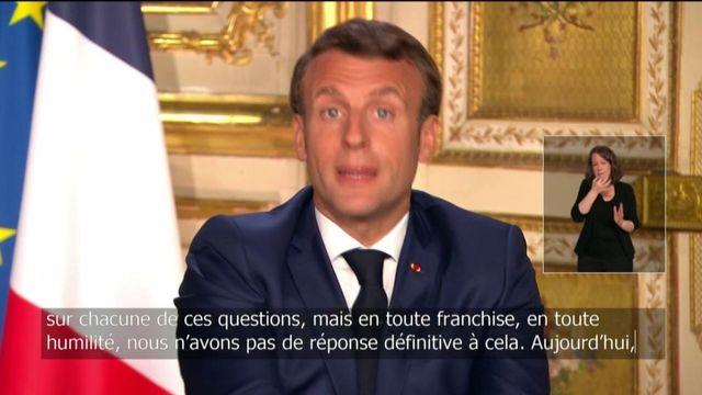 """""""Nous n'avons pas de réponse définitive"""" sur la fin de l'épidémie, regrette Emmanuel Macron"""