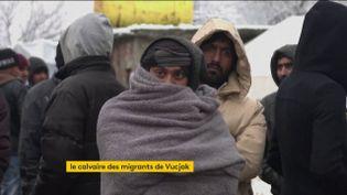 Un migrant en Bosnie (FRANCEINFO)