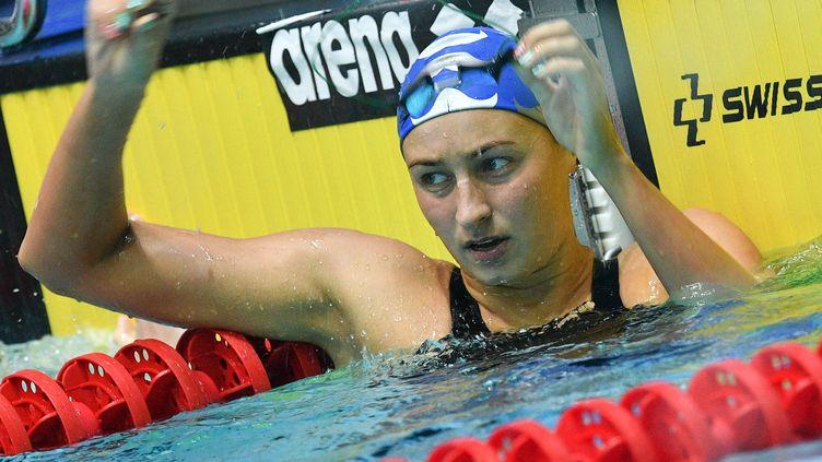 Veronika Andrusenko (ici en 2019) fait partie des deux athlètes provisoirement suspendus pour Tokyo. (ALEXANDER VILF / SPUTNIK / AFP)
