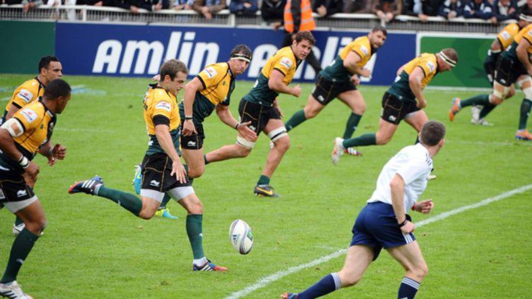L'équipe de Northampton en action (REMY GABALDA / AFP)