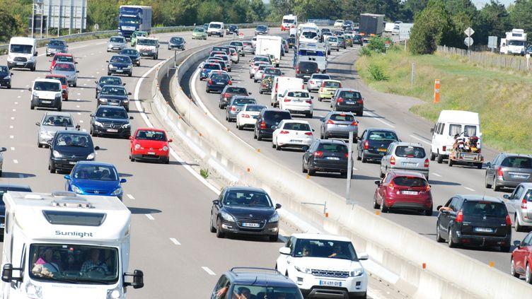 L'autoroute A7,à hauteur de Valence (Drôme), le 29 août 2014. (CITIZENSIDE / CHRISTOPHE ESTASSY / AFP)