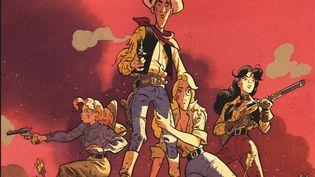 """Détail de la couverture du livre """"Wanted Lucky Luke"""" de Matthieu Bonhomme. (DARGAUD)"""