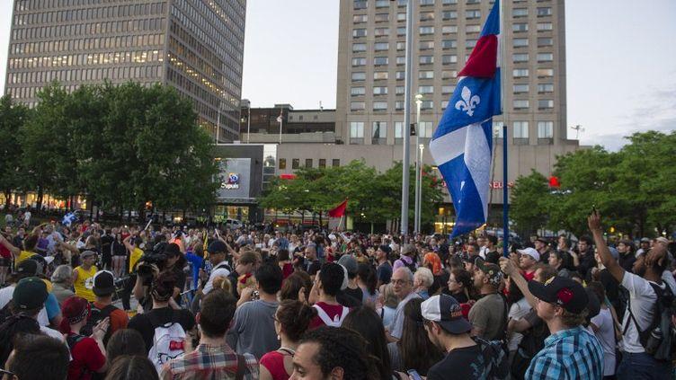 Des étudiants protestent dans les rues de Montréal (Canada), le 24 mai 2012. (ROGERIO BARBOSA / AFP)