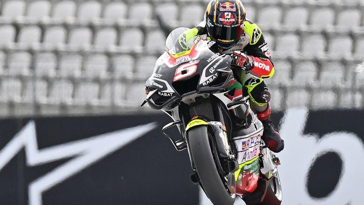 Johann Zarco (Ducati Avintia) lors du GP d'Autriche sur le circuit de Spielberg, la semaine dernière. (JOE KLAMAR / AFP)