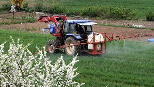 Epandage de pesticides à Thionville (Moselle), le 11 avril 2012. (MAXPPP)