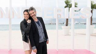 """Mi Hoa Le et Leonardo Sbaraglia, les héros de la série """"Félix"""", à Cannes, à Cannes le 8 avril 2018  (David Nivière / SIPA)"""