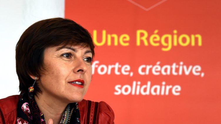 La candidate du PS en Languedoc-Roussillon-Midi-Pyrénées, Carole Delga, le 21 octobre 2015 à Toulouse. (  MAXPPP)