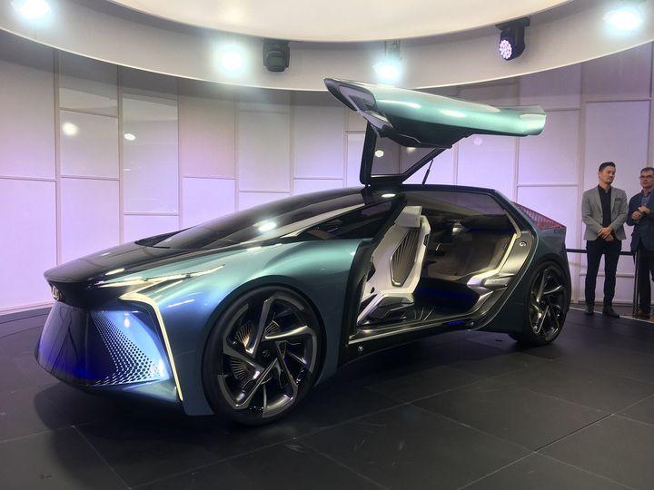 Le Lexus LF 30 Electrified Concept dispose de blocs électriques installés dans chaque roue. (SER)