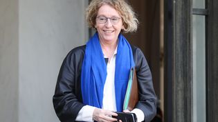 La ministre du Travail, Muriel Pénicaud, à la sortie du Conseil des ministres, à l'Elysée, le 30 janvier 2019. (LUDOVIC MARIN / AFP)