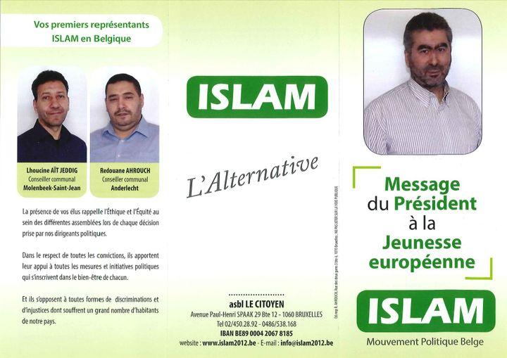 Un tract distribué par «Islam» aux Bruxellois fin décembre 2015. (DR / capture d'écran)