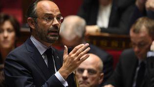 Le Premier ministre, Edouard Philippe, lors de la séance de questions au gouvernement, le mercredi 17 octobre 2018 à l'Assemblée nationale. (ERIC FEFERBERG / AFP)