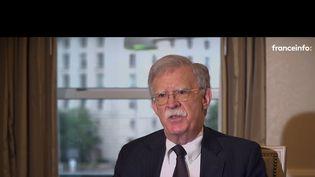 John Bolton, ancien conseiller de Donald Trump, interviewé par franceinfo. (FRANCETV INFO)