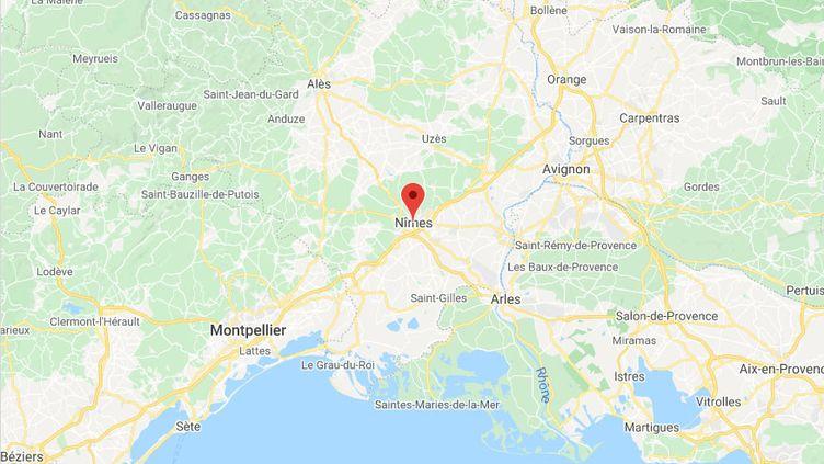 Nîmes (Gard). (GOOGLE MAPS)