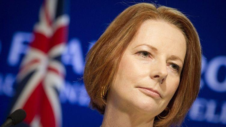 La première ministre australienne Julia Gillard lors du G20 le 3 novembre 2011 à Cannes. (LIONEL BONAVENTURE / AFP)