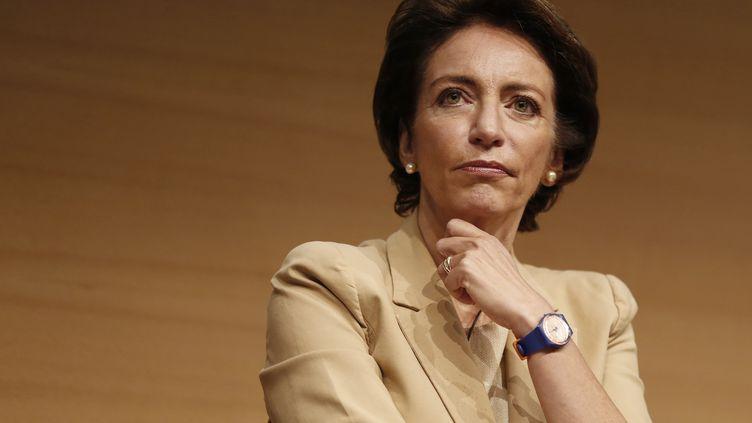 La ministre de la Santé, Marisol Touraine, le 23 septembre 2013 à Paris, lors de la présentation de la stratégie du gouvernement en matière de santé. (THOMAS SAMSON / AFP)