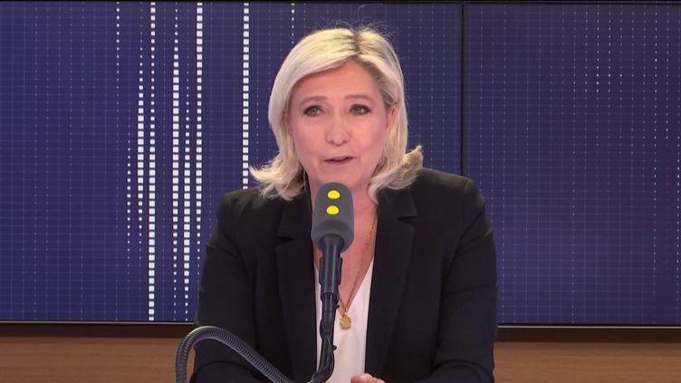 """Marine Le Pen, invitée du """"8h30 Politique"""" lundi 20 mai 2019. (FRANCEINFO)"""