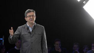 Jean-Luc Mélenchon en meeting à Lyon, le 5 février 2017. (MAXPPP)
