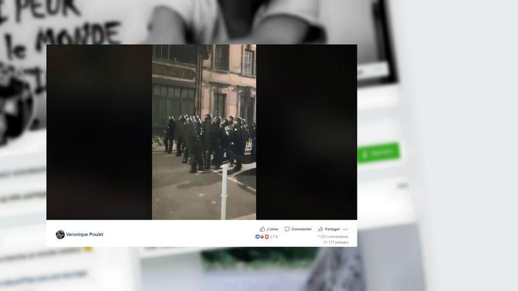 L'altercation entre deux membres de la CSI Haute-Garonne, samedi 23 février 2019 à Toulouse. (VERONIQUE POULET / FACEBOOK)